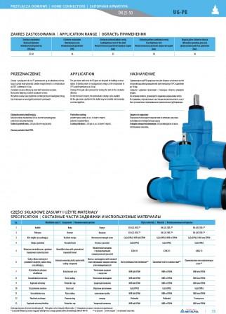 Cast iron gate valve UG-PE Dn25-32