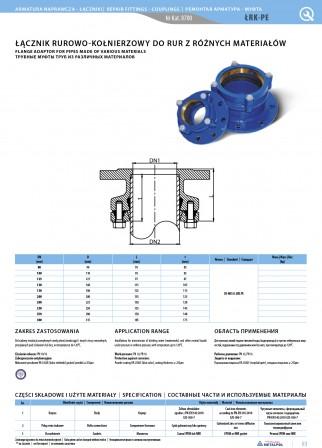 Rohr- und Flanschverbinder für Rohre aus verschiedenen PE Materialien