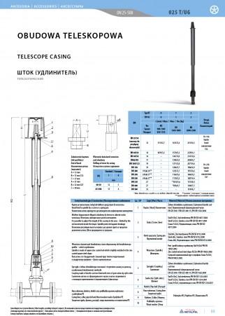 Teleskopgehäuse 025T/UG