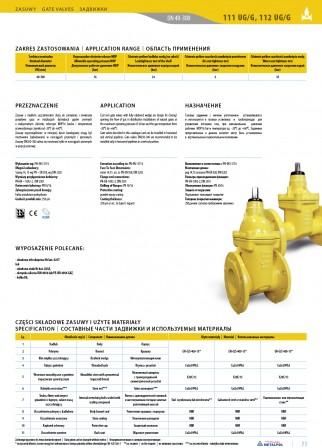 Cast iron gate valves for gas